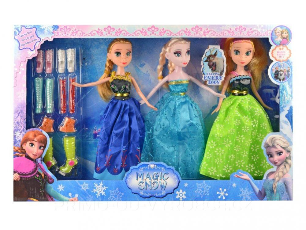 Bábiky Frozen 3ks s doplnkami