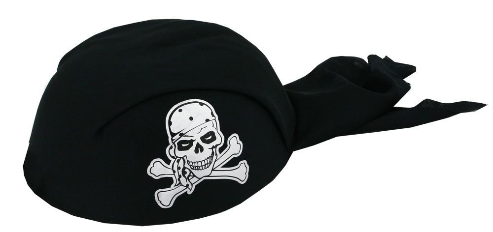 Šatka pirátska čierna, detská