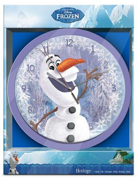 Nástenné hodiny Olaf- Frozen