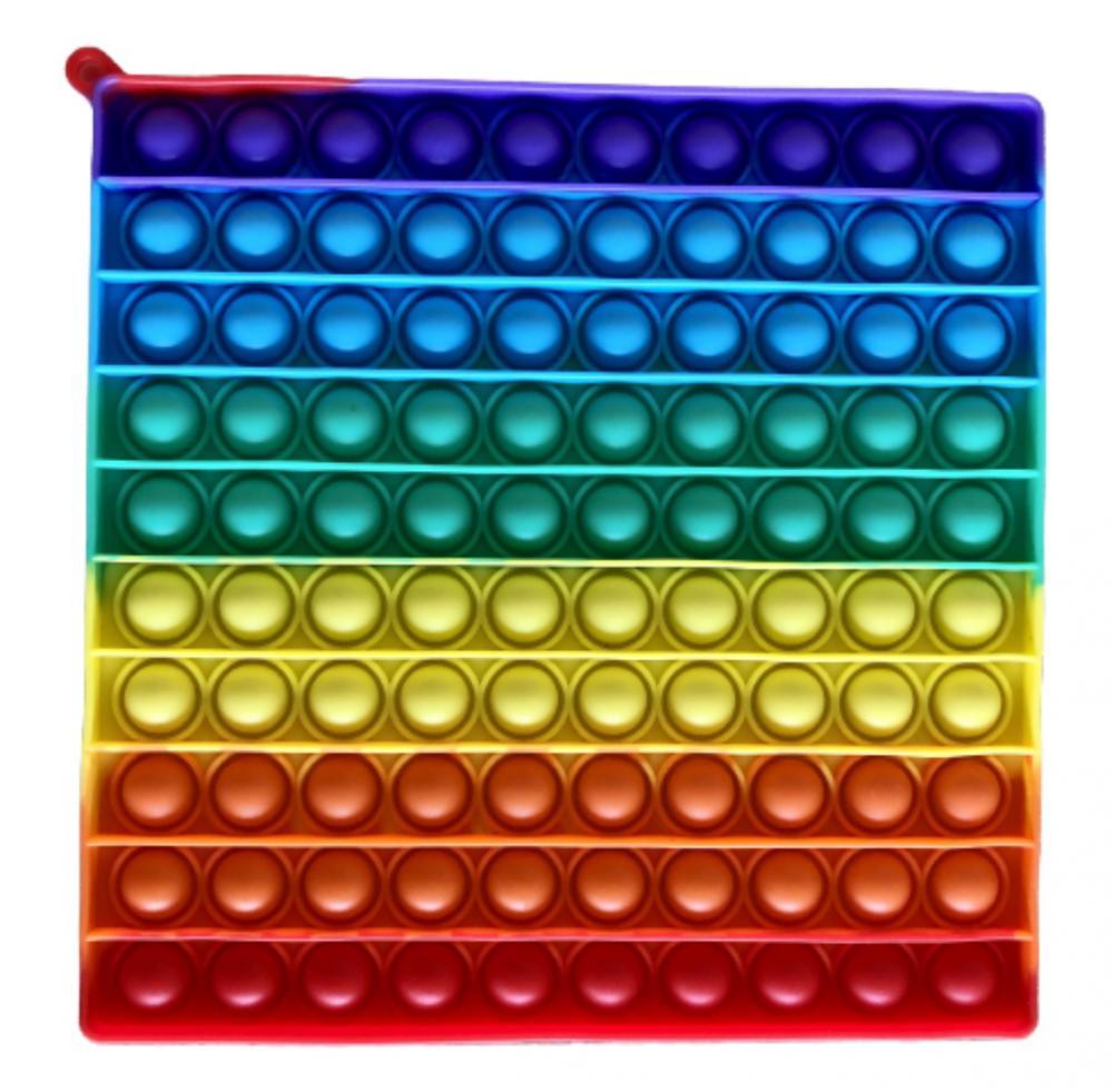 RAPPA Antistresová hračka POP IT  praskanie 100 bublín - štvorec