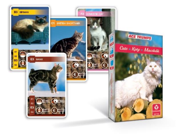 Karty na kvarteto - Mačky