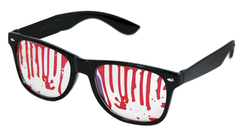 Okuliare Halloween s krvou
