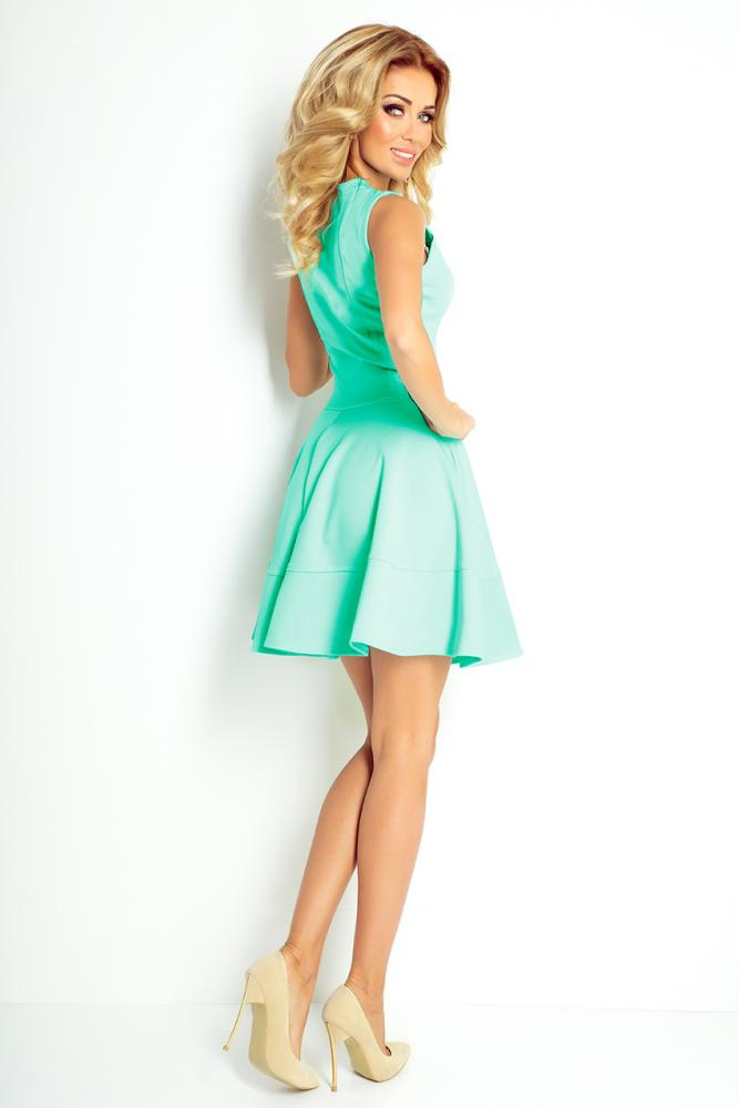 01f1aebdd7f3 Dámske šaty so zipsom zelená mäta