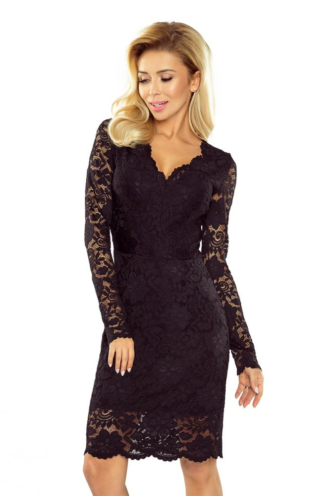Dámske šaty s krajkou čierne S