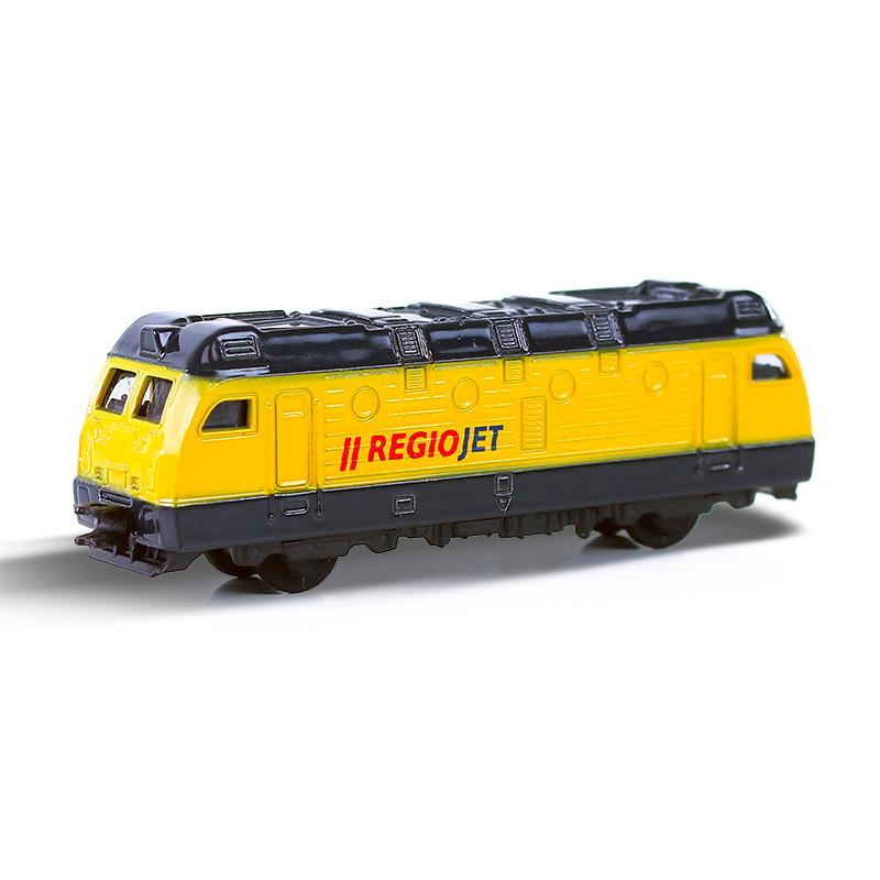 Kovová lokomotíva RegioJet 9 cm