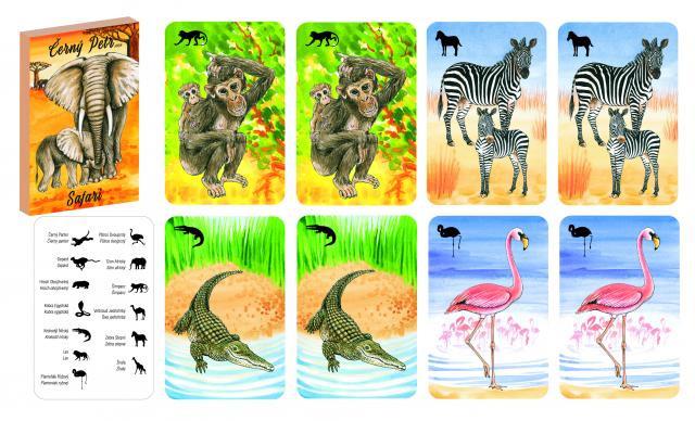 Karty Čierny Peter Safari
