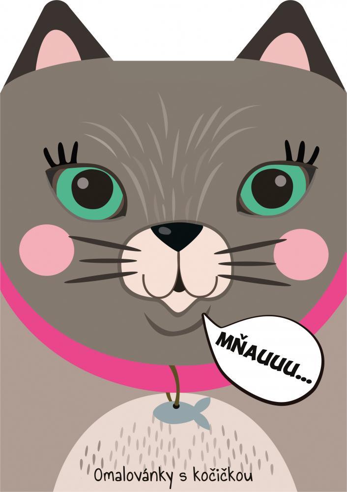 Omaľovánka A4 zvieratká - Mačka
