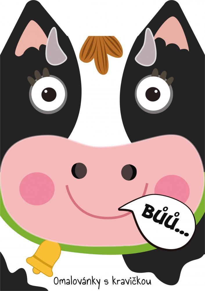 Omaľovánka A4 zvieratká - Krava