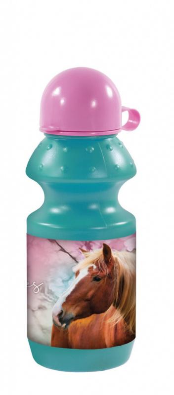 Fľaša na pitie koník s kvetmi