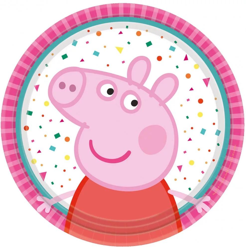 Papierové taniere Peppa Pig