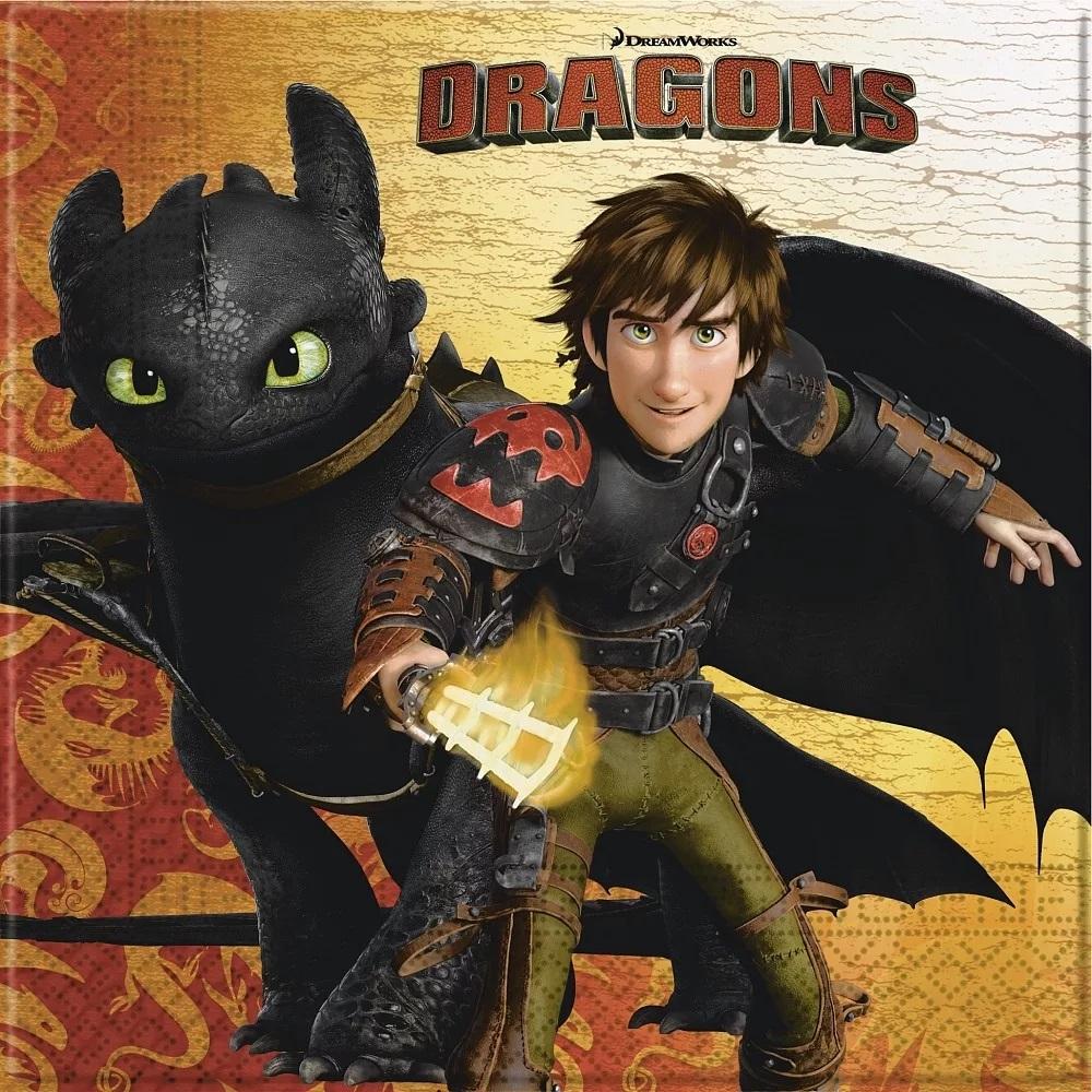 Párty servítky Dragons- Ako vycvičiť draka