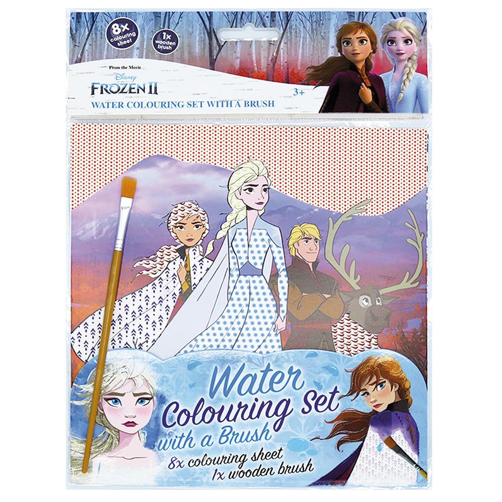 Omaľovánka vodová sa štetcom Frozen 2 - Ľadové kráľovstvo
