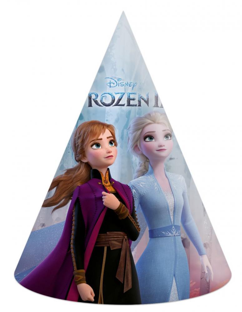 Klobúk papierový Frozen II 6 ks