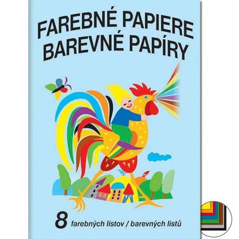 Farebný papier - 8 listov