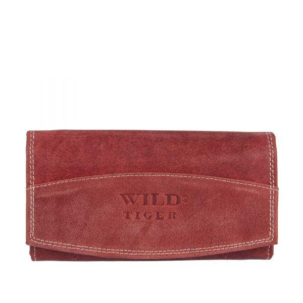 Dámska kožená peňaženka WILD čierna