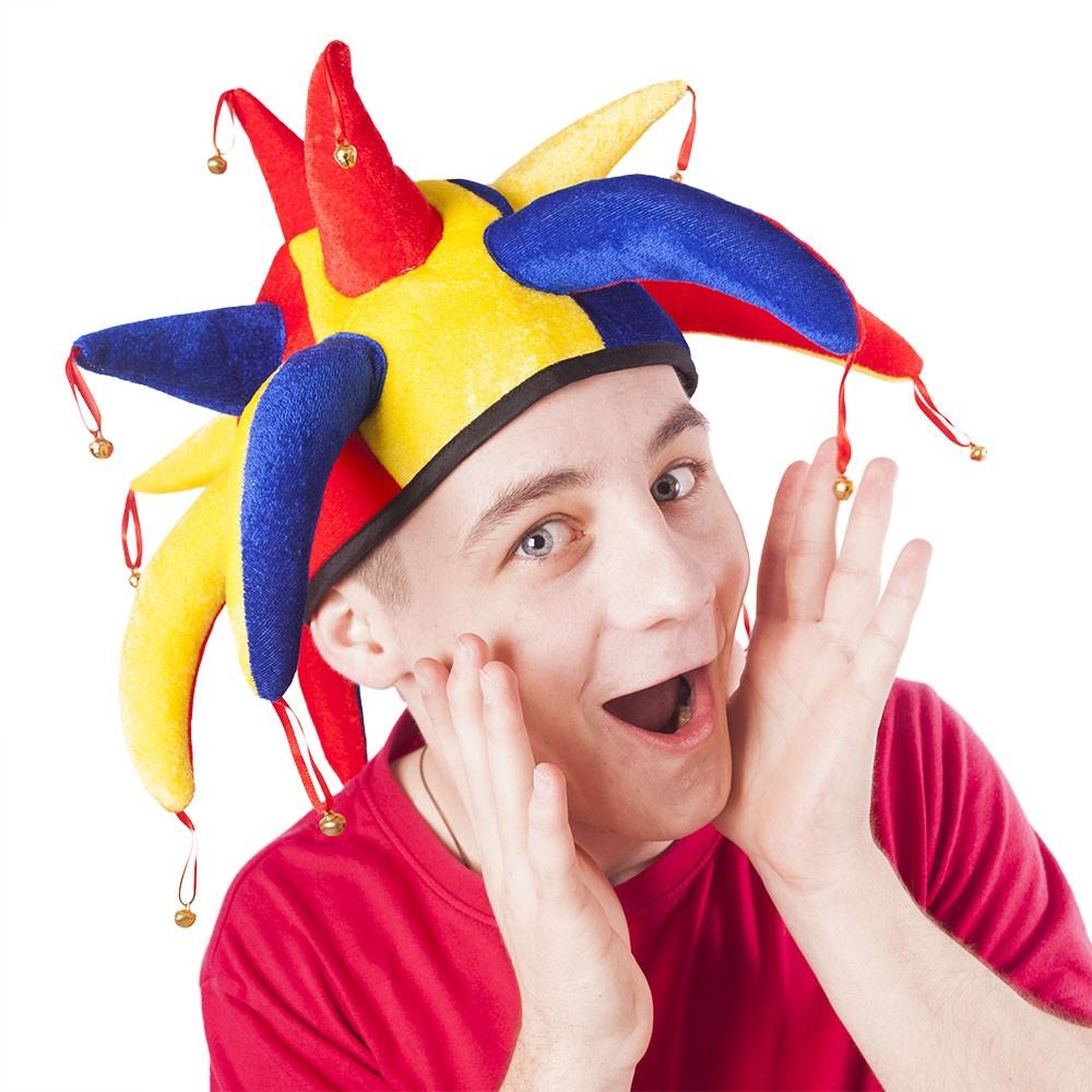 Čiapka šašo - joker pre dospelých