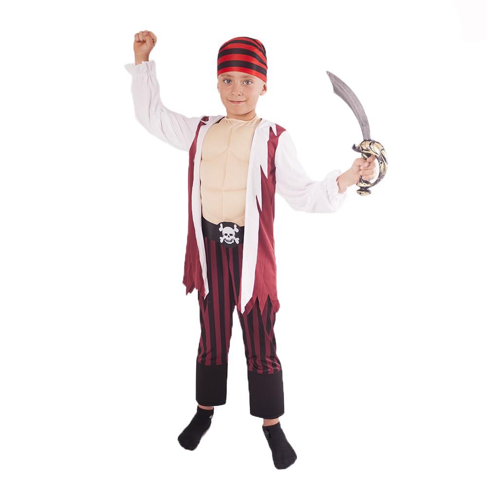 Karnevalový kostým pirát so šatkou 8-10r