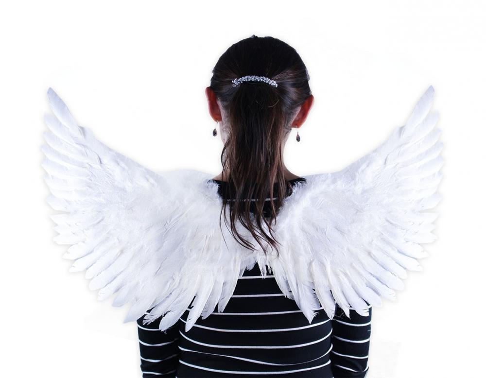 Anjelské krídla biele trblietavé