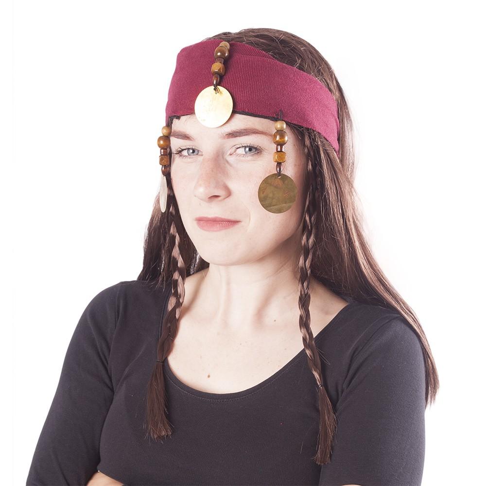 Parochňa pirátska s vlasmi pre dospelých