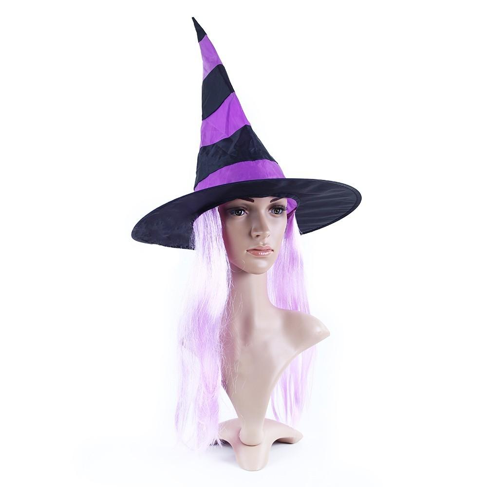 Klobúk Čarodejnica s vlasmi