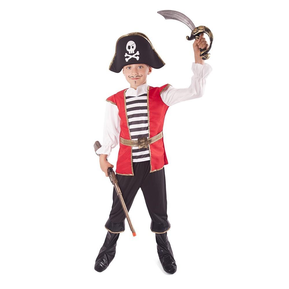 Karnevalový kostým pirát s klobúkom 8-10 rokov