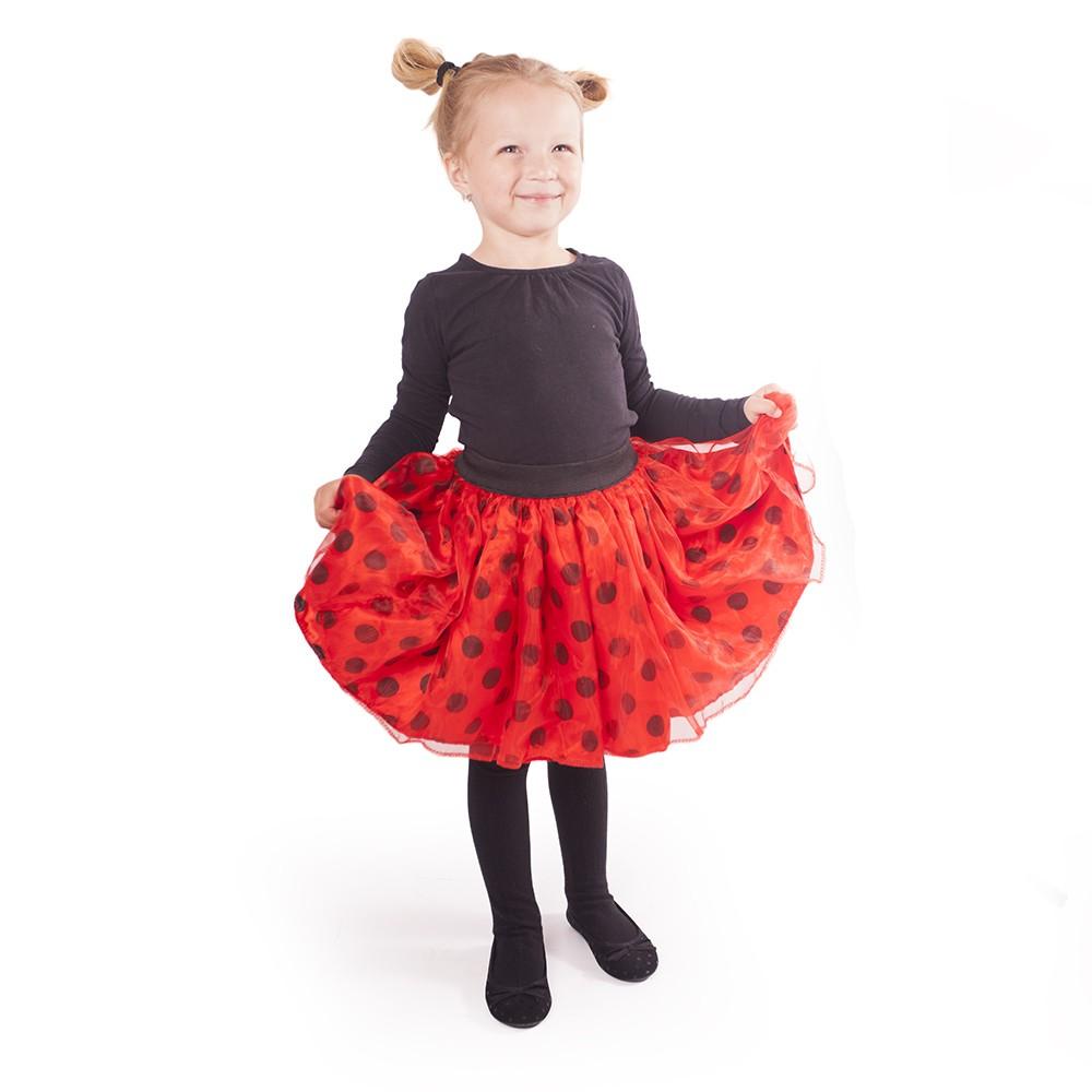 Karnevalová sukňa Lienka s bodkami bohatá