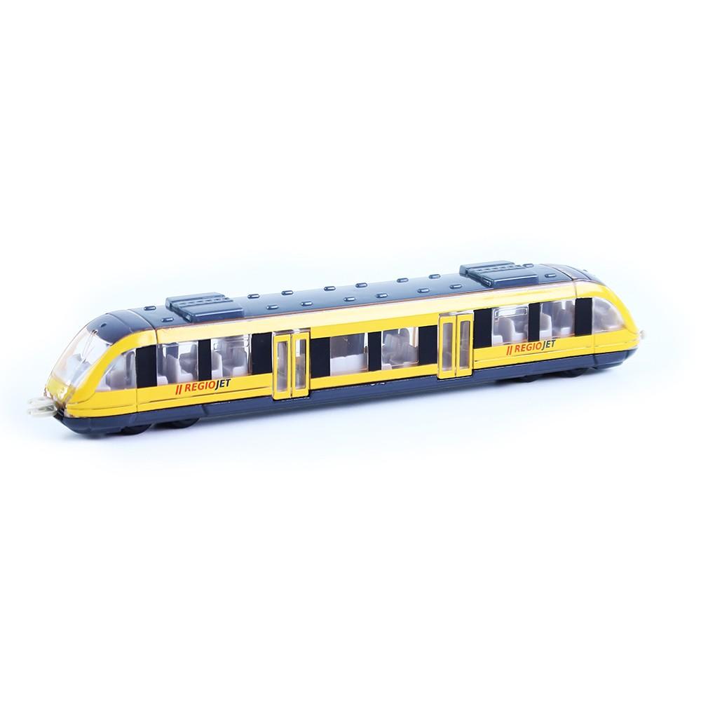 Vlak RegioJet regionálny kov/plast