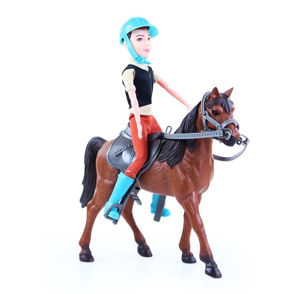 Kôň s žokejom