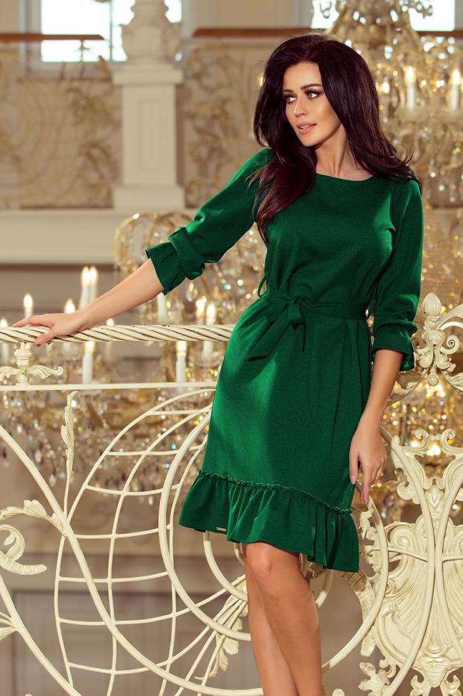 Dámske šaty Maya s volánom zelené M