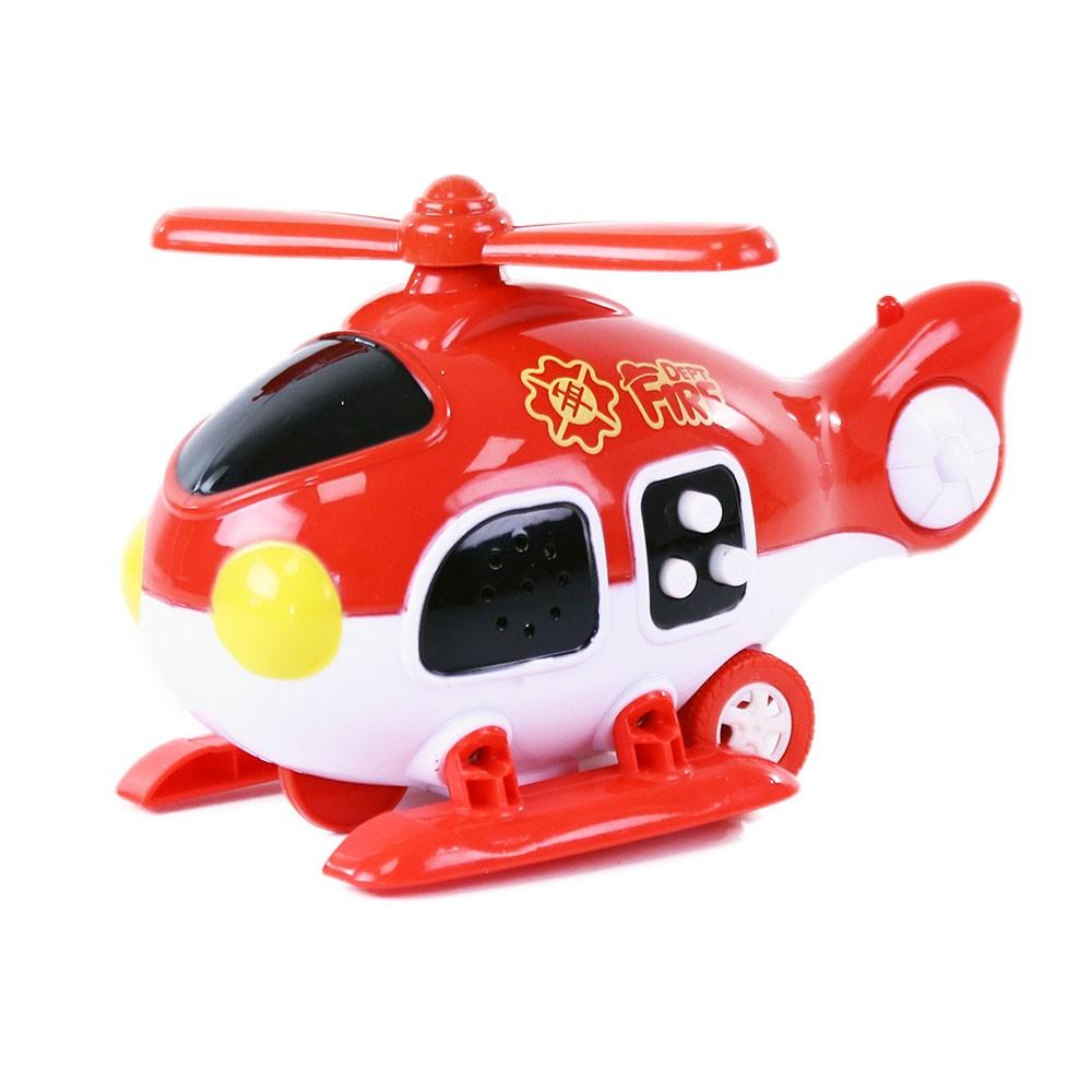 Helikoptéra hasiči so zvukom a svetlom