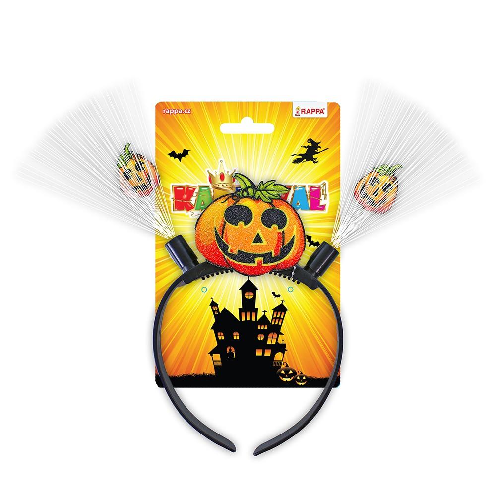 Čelenka Halloween so svetlom detská