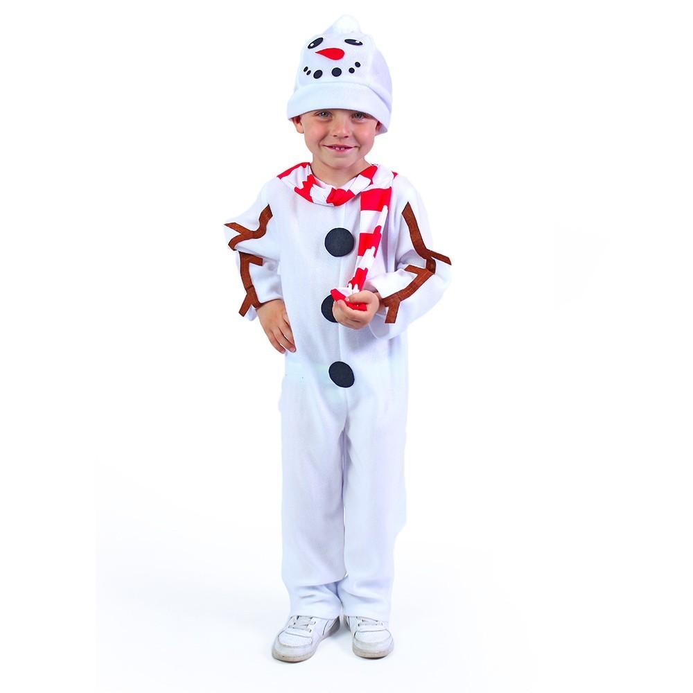 Karnevalový kostým snehuliak S,M 104/116