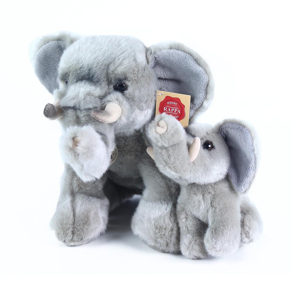 Plyšový slon s mláďaťom 27cm, sediaci