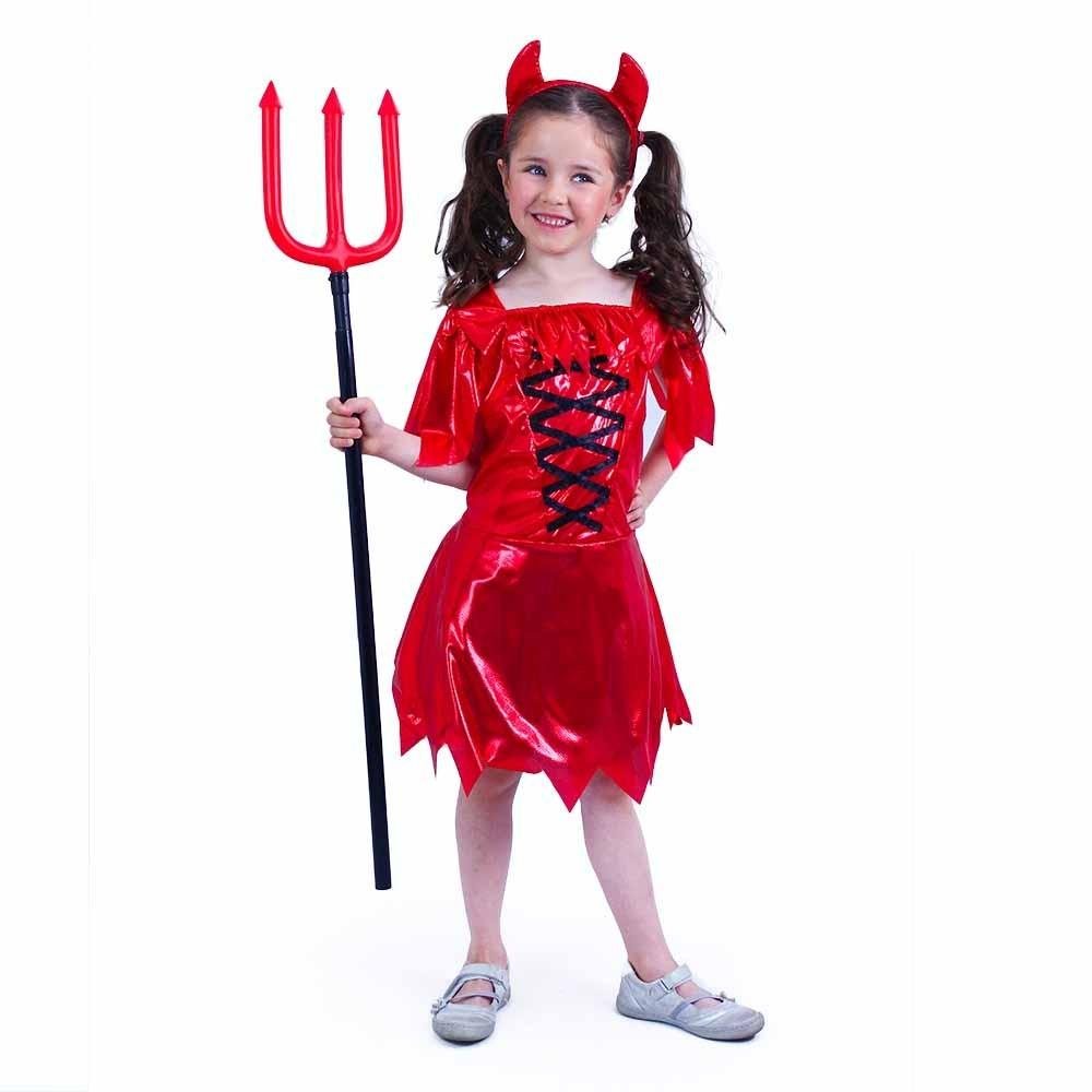 Karnevalový kostým čertica M, 6-8 rokov