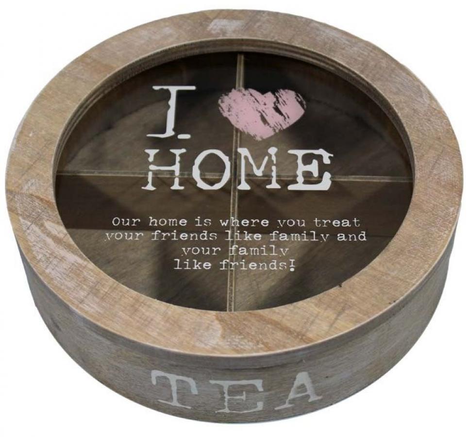 Drevená krabička na čaj I LOVE HOME