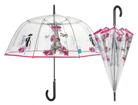 Dámsky dáždnik vystrelovací priehľadná Paris