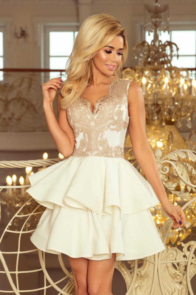 7cd604b22 Dámske šaty exkluzívne s krajkou Charlotte béžové | eshop | Nina ...
