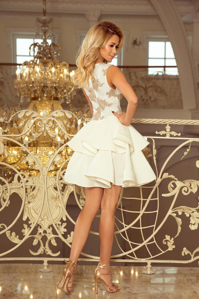 Dámske šaty exkluzívne s krajkou Charlotte béžové  aa275108fda