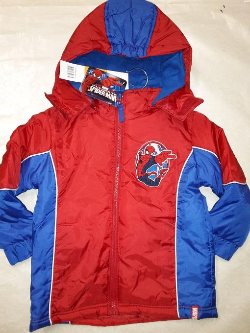 Chlapčenská zimná bunda Spiderman modrá a červená  červená;98