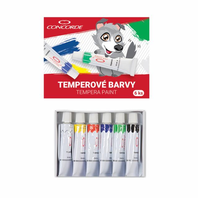 Temperove farby CONCORDE/6ks 12ml
