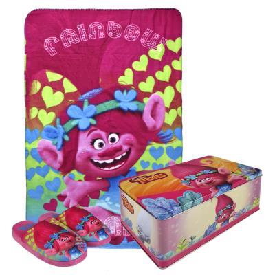 Dievčenská darčeková sada Trollovia v kovovej krabici