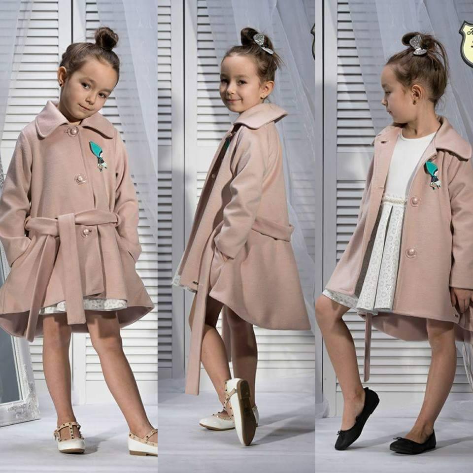 Dievčenský kabát flaušový Kid's By Voga Italia  110/116
