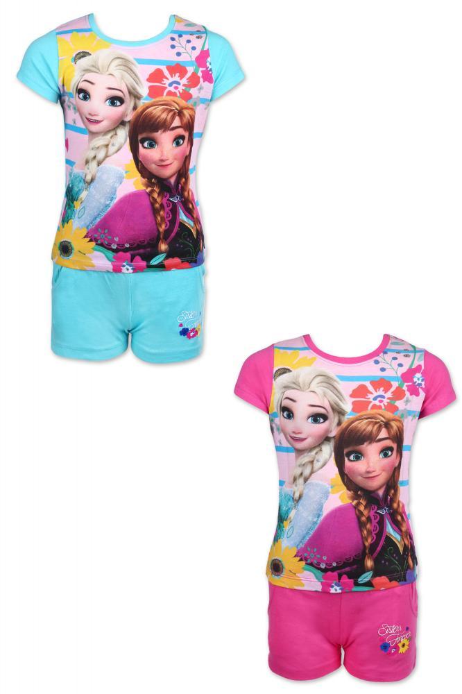 Tričko a kraťasy Frozen modré a ružové modré;128