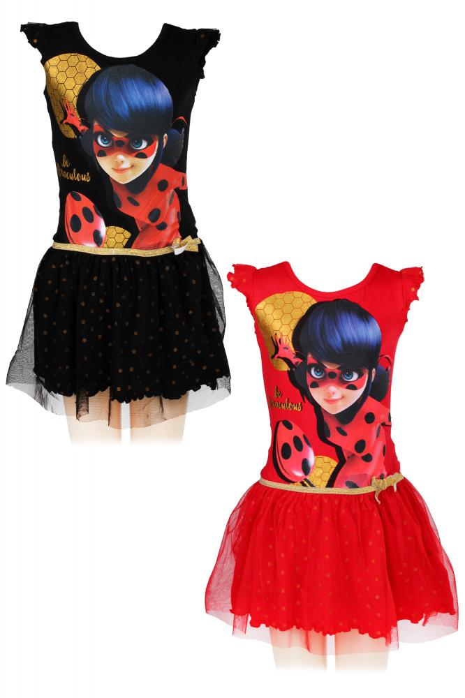 2b52c0593e71 Dievčenské šaty Miraculous Ladybug čierne a červené