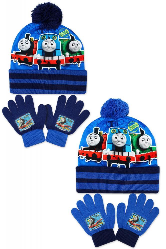 Čiapka a rukavice Vláčik Tomáš modré a tmavomodré