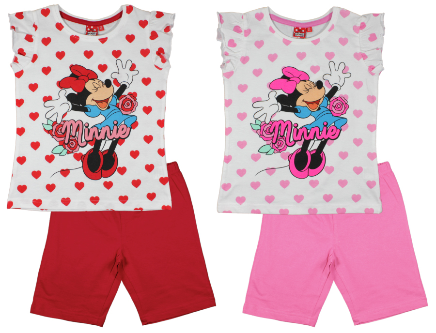 Pyžamo Minnie červené a ružové ružové,128