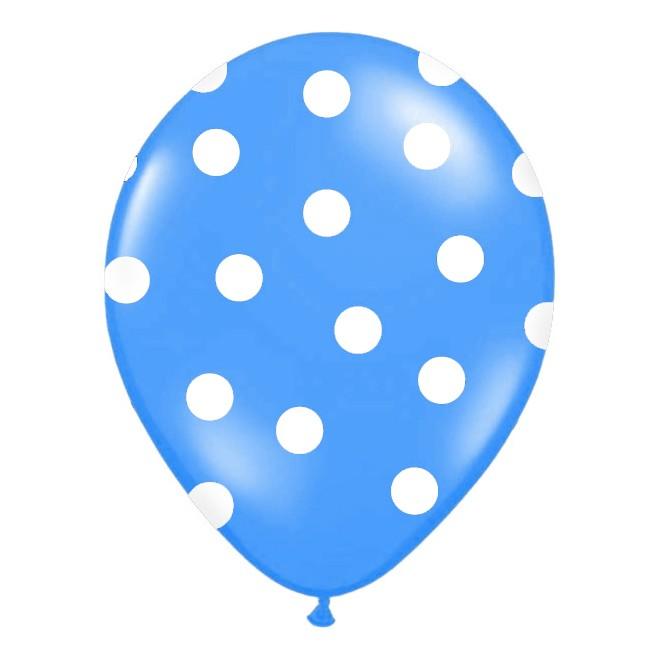 balónik nafukovací 30 cm s potlačou modrý