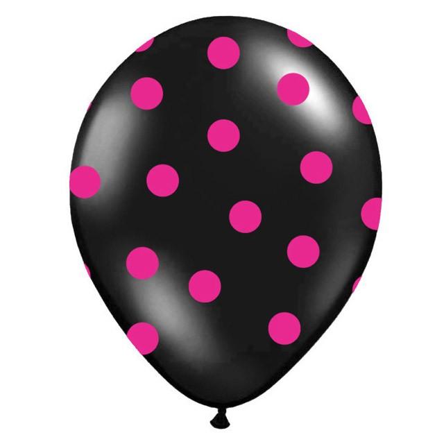 Balónik nafukovací 30cm s potlač. čierny