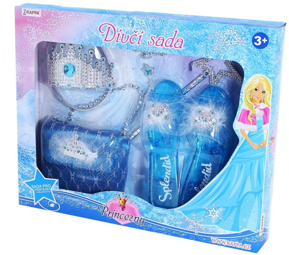 Sada Zimná princezná s kabelkou, črievičkami, doplnkami