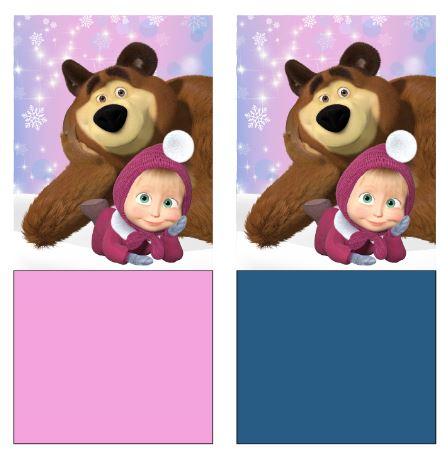 Multifunkčná šatka Máša a Medveď modrá